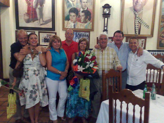 12 Julio 2.008, celebración 28 aniversario de boda de Victoria y Ginés