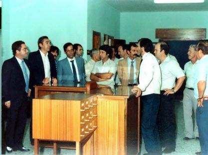 Día de la Inaguración de la Biblioteca Publica Municipal de Casarabonela, Año 1983