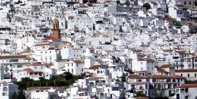 Laberinto de calles, Cómpeta (Málaga)