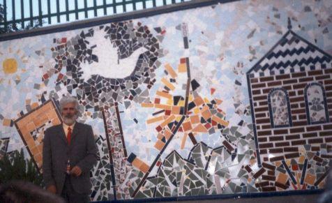 mural de azuejos  realizado por  Hidalgo