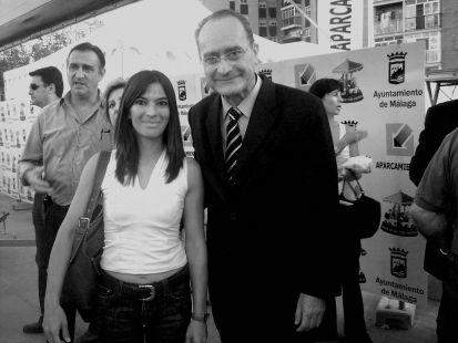foto con el alcalde de Malaga ( Francisco de la Torre)