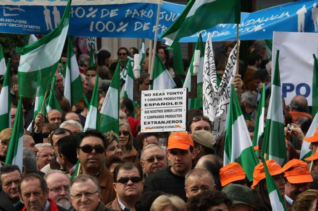 manifestación por el empleo