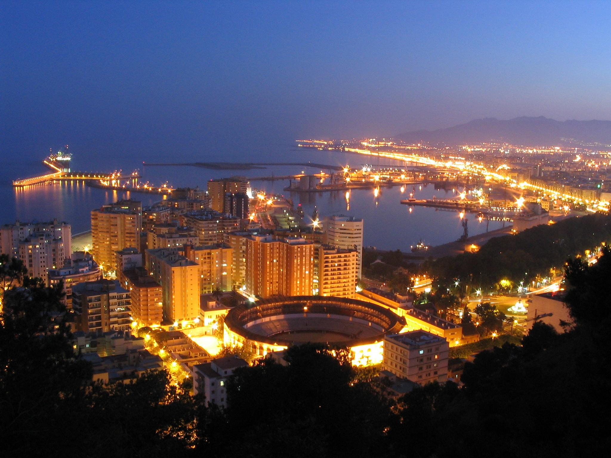 Malaga noche fotos de nocturnas amaneceres y atardeceres - Fotos malaga capital ...