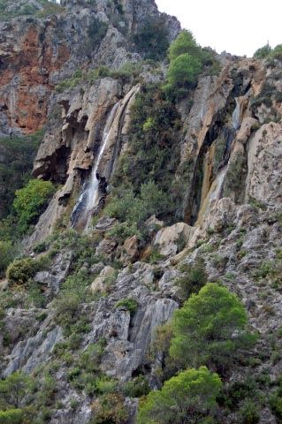 Salto del rio verde almu ecar granada fotos de naturaleza for Tablon verde granada