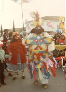 Hidalgo participando en el Canaval de Vèlez.