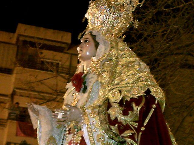 Virgen de Zamarrilla en su Traslado el Sabado de Pasion  2008