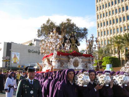 El señor Orando en el Huerto el Domingo de Ramos