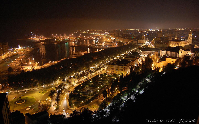 Vista nocturna de m laga fotos de m laga capital - Fotos malaga capital ...