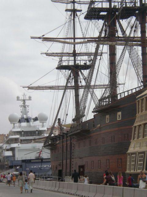 ayer y hoy en el puerto de Málaga