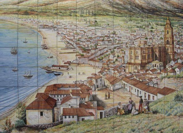 mosaico málaga antigua  fotos de La Málaga de ayer