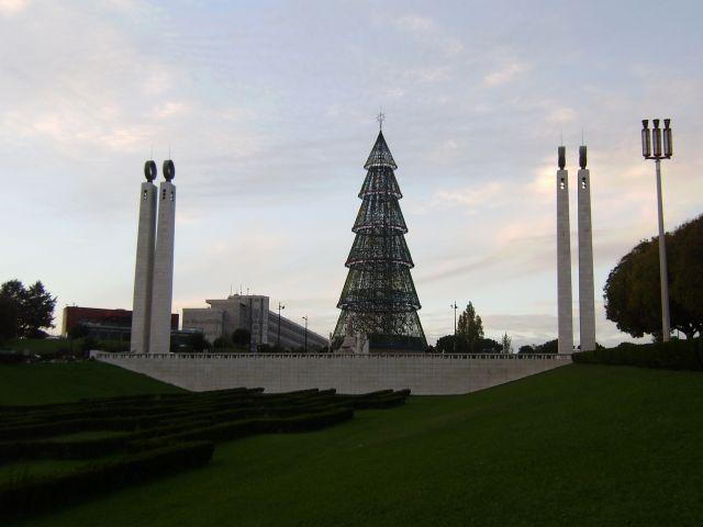 Arbol de Navidad en el Parque Eduardo Vll, de Lisboa