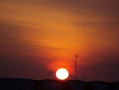 El alba en Malaga