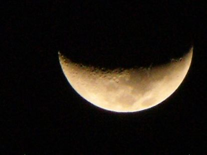 luna en una noche de Marzo en Malaga