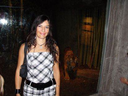 Merche Lopez en el zoo