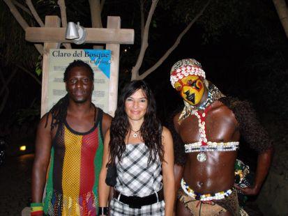 con la tribu tambien en el zoo