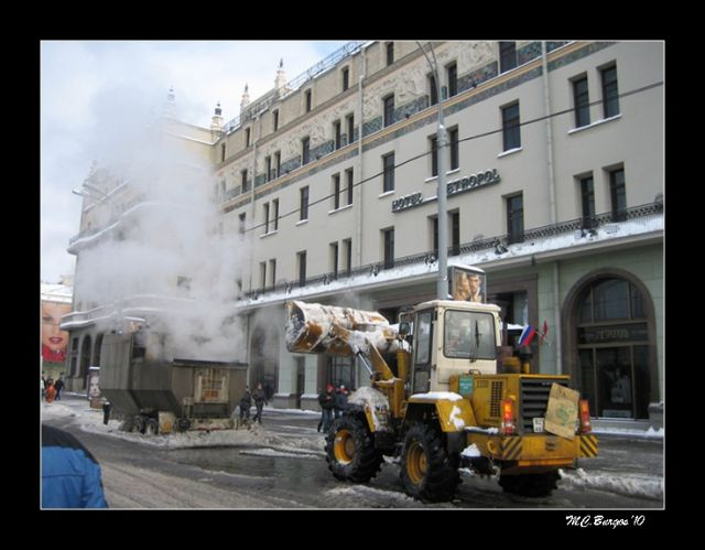 Máquina para derretir la nieve, Moscú