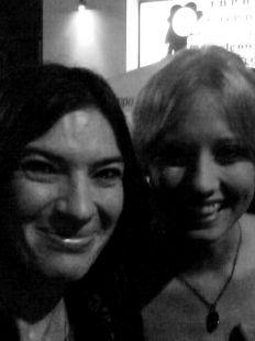 yo con Sara de la SERIE LOS HOMBRES DE PACO