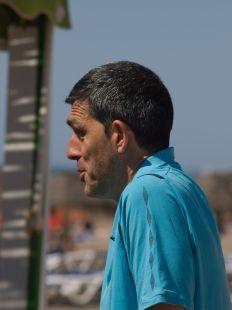 El entrenador del Málaga hoy domingo, en Guadalmar