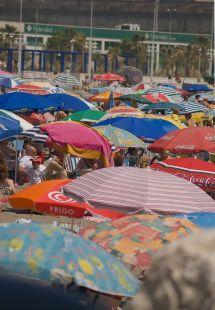 Hoy 30 de Mayo las playas  a rebosar