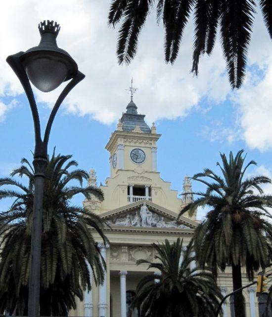 Detalle del Ayuntamiento de Malaga