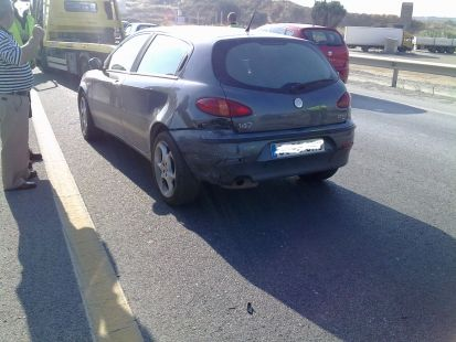 Accidente en la A357 km63