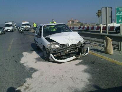 Accidente en la A357 km63
