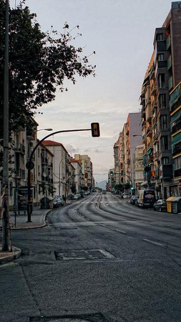 Málaga en el descanso del partido: 21:18 h