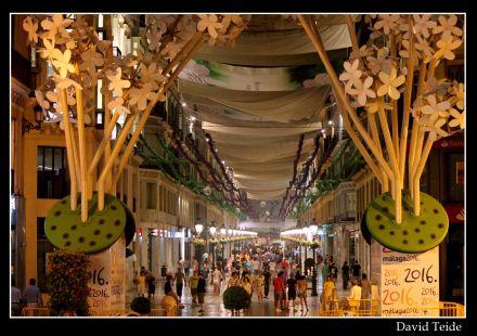 El Centro de Málaga engalanado