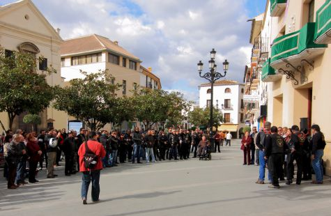 Moter@s contra la violencia de género en Vélez Málaga