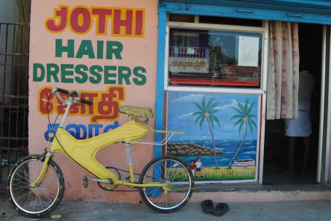 El peluquero y su bici