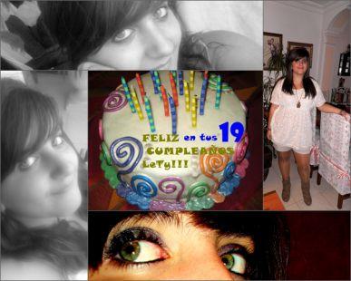 FELICIDADES LeTy  en tus 19 Cumpleaños
