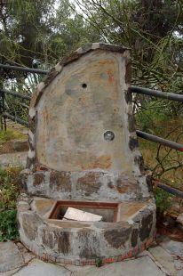 Fuente en un mirador de Gibralfaro