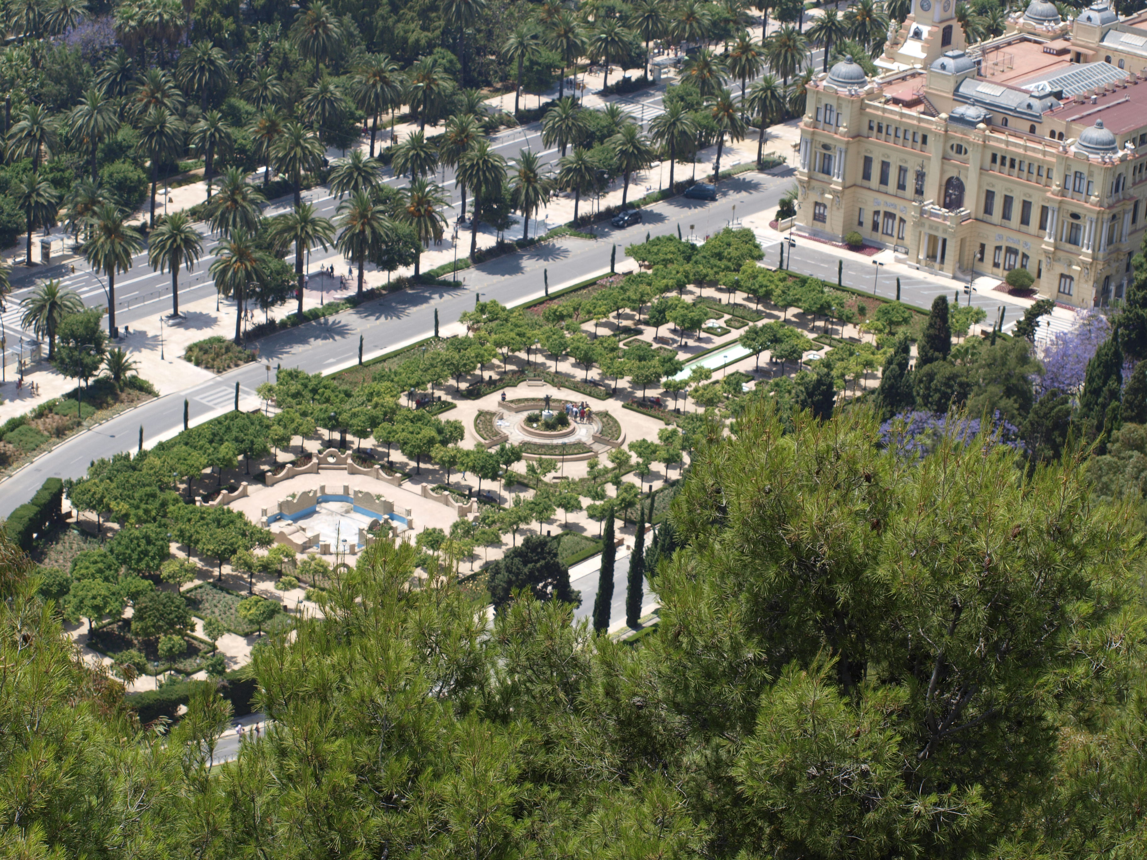 jardines de puerta oscura fotos de m laga capital