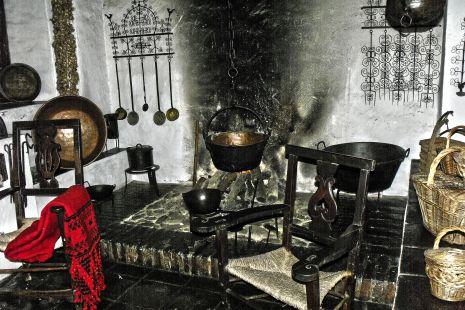En la antigua cocina