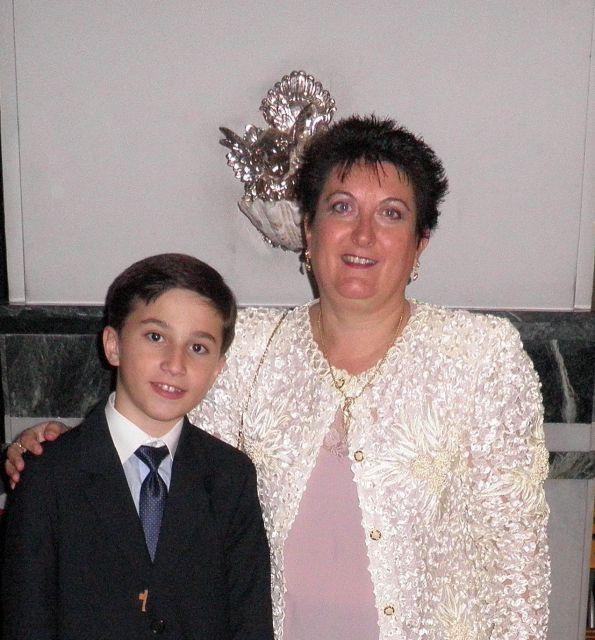 Javier con su tia-prima KuKi