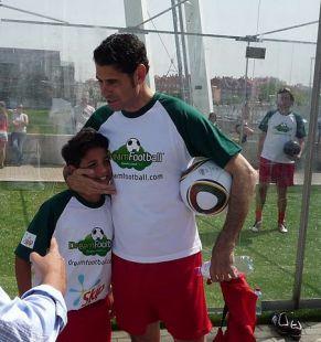 Fernando Hierro con Luis Enrique