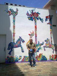 Mural dedicado a al poeta Joaquín Lobato
