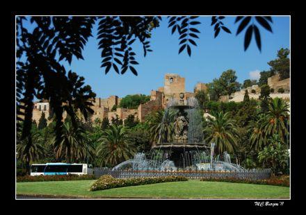 Bellísima Málaga: Fuente de las Tres Gracias y Alcazaba
