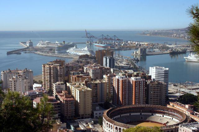Cinco cruceros en el puerto de m laga fotos de m laga capital - Fotos malaga capital ...