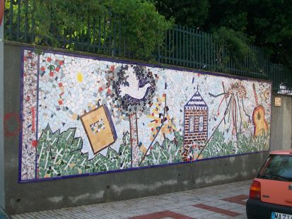 Mural , colegio Juán Herrera