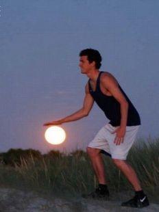 Jugando con la luna V
