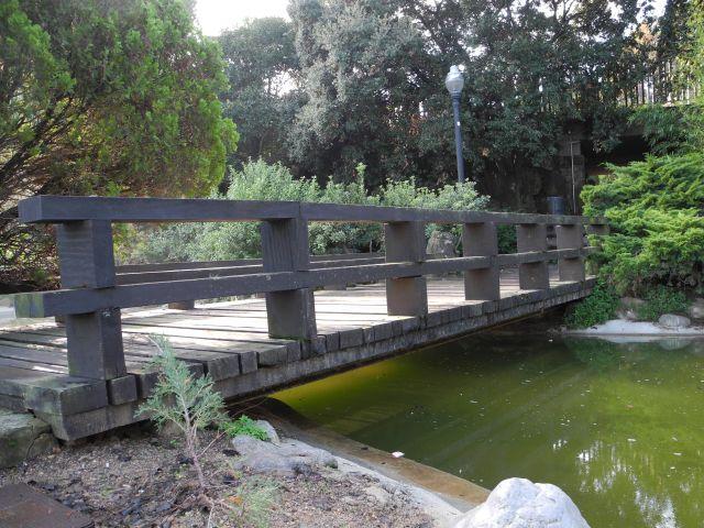 Puente en los jardines de montjuic fotos de naturaleza - Jardines de montjuic ...
