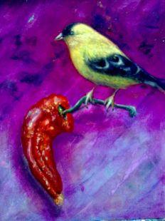 Canario con pimiento