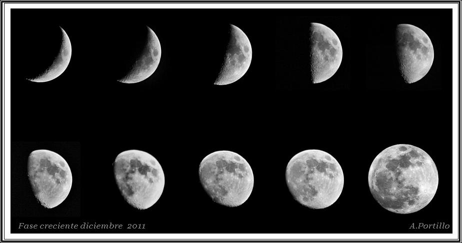 Fases de luna creciente diciembre 2011 fotos de nocturnas for Que es luna creciente