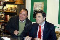 PEDRO.J FIRMA LIBROS CORTE INGLES DE MÁLAGA.21-1.2012