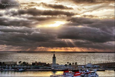 Amanece en Málaga