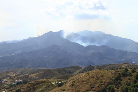 fumarolas en la Sierra de Ojen