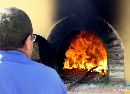 Preparando el horno