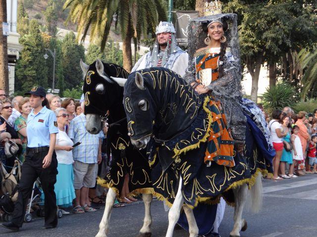 Cabalgata conmemoración entrada Reyes Católicos en Málaga