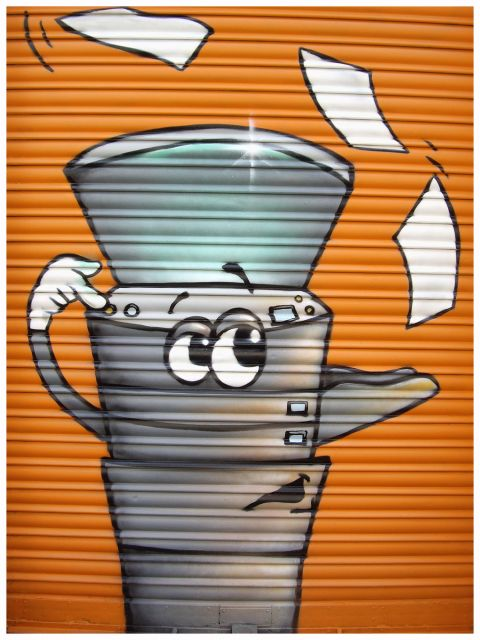 graffiti en el cierre
